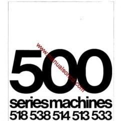 Elna Sewing Machine Parts Diagram 2002 F150 Starter Wiring Singer 500 Service Manual 518, 538, 513, 514, 533