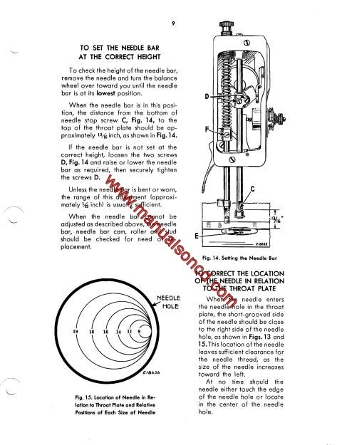 Singer 127 And 128 Sewing Machine Service Manual