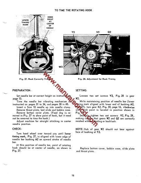Singer 500 And 503 Sewing Machine Service Manual