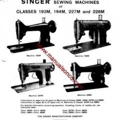 Elna Sewing Machine Parts Diagram 1999 Ford Ranger Singer 193m, 194m, 227m, 228m Service Manual