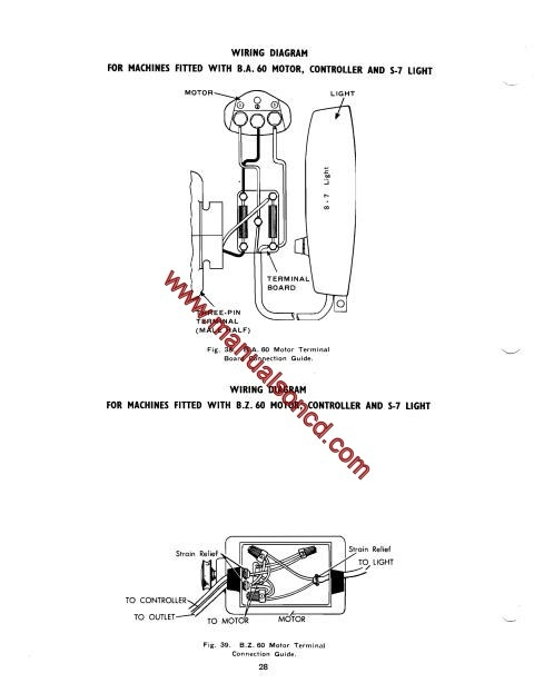 Singer 193M, 194M, 227M, 228M Sewing Machine Service Manual