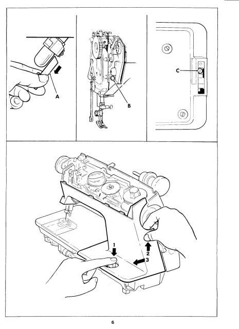 Singer 1030-1036E Sewing Machine Service Manual
