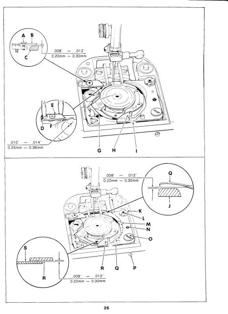 Singer 1030-1036E Sewing Machine Service Manual