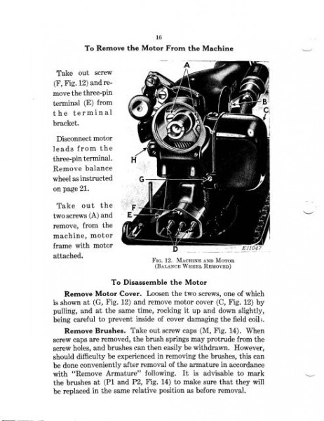 Singer 15 Sewing Machine Service Manual