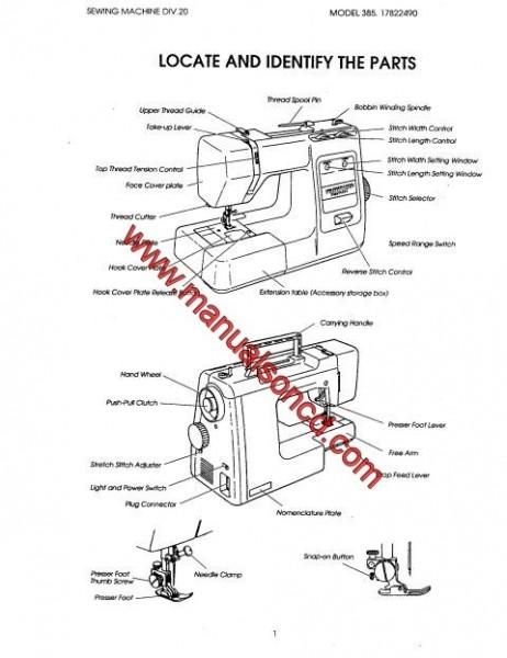 Kenmore 385.17126690 Sewing Machine Service Manual