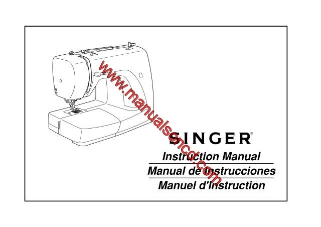 Singer 3116 Sewing Machine Instruction Manual