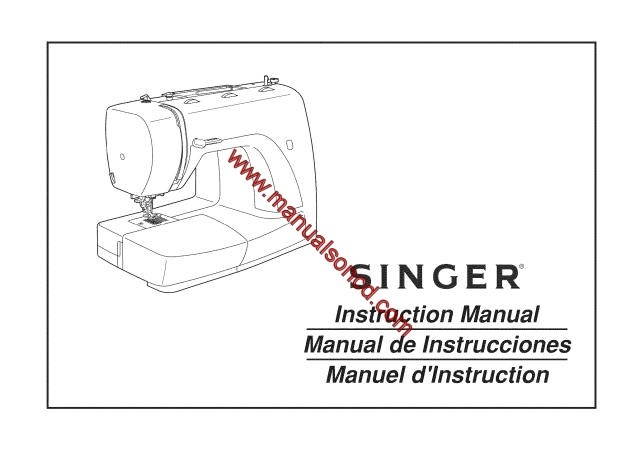Singer 2932 Sewing Machine Instruction Manual
