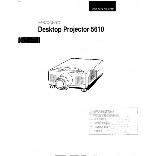 Boxlight 3600 User Guide Manual Download Technical details