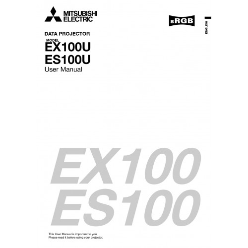 Mitsubishi Electric ES100U Data User Guide Manual Download