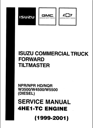 1999-2001 Isuzu Commercial Truck Forward Tiltmaster Npr
