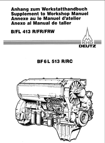 Deutz BF6L513R Workshop Service Manual