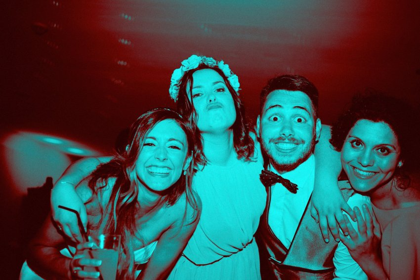 wedding-bride-groom-dancing-blue-monochrome-fun-party