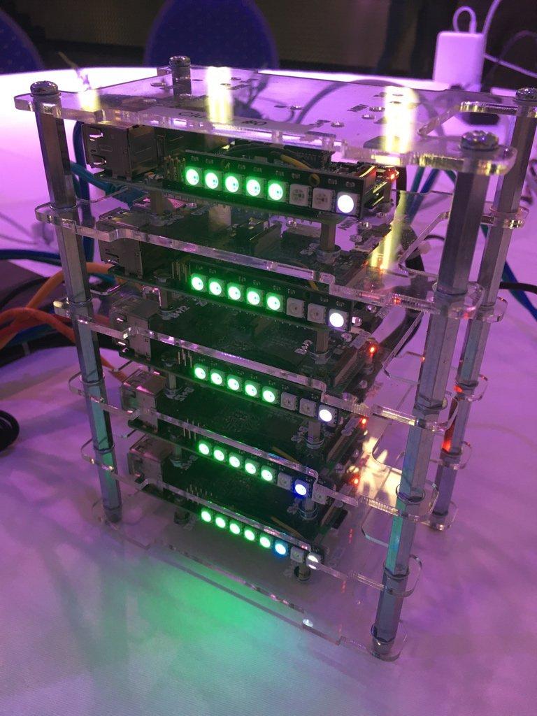 Raspberry PI Akka Cluster LED strips