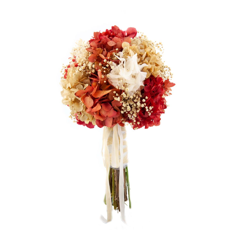 bouquet de hortensias preservadas otoño