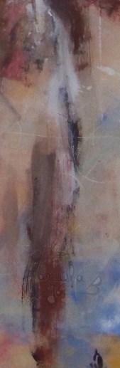 tableau abstrait empreinte sur bois