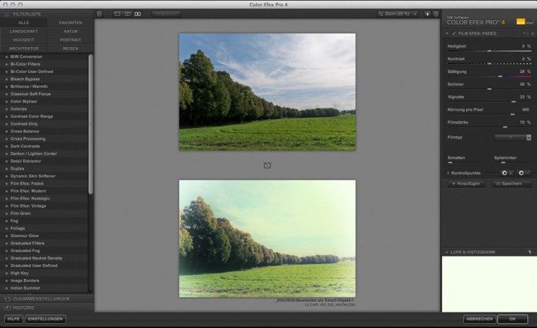 Color Efex Pro 4 Film Efex Faded
