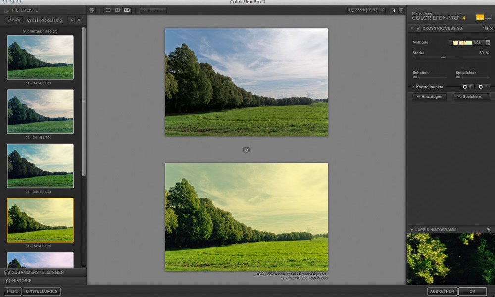 Color Efex Pro 4 Voreinstellungen
