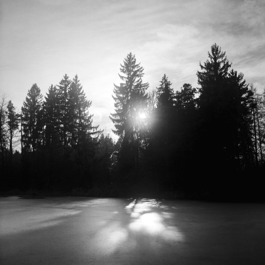 Deixlfurter See im Winter analog