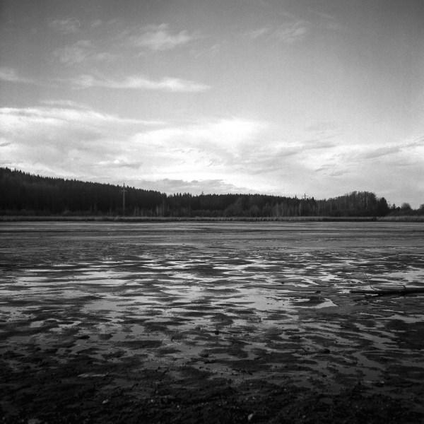 Deixlfurter See im Winter analog