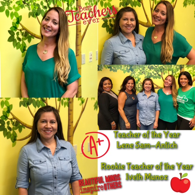Teacher of the Year: Lene Sam-Antich and Rookie Teacher of the Year: Iveth Munoz