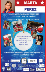 21st Annual Holiday Book Givaway @ Miami Sunset Senior High | Miami | Florida | United States
