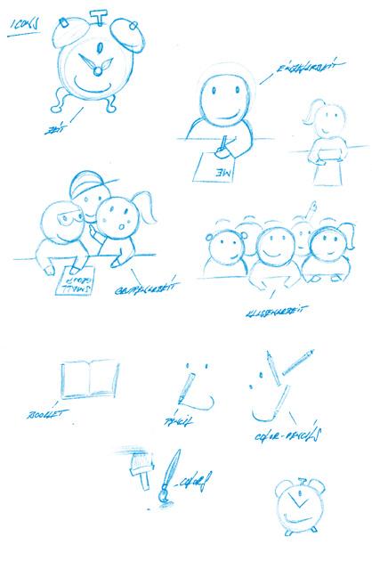 Skizze für Icons