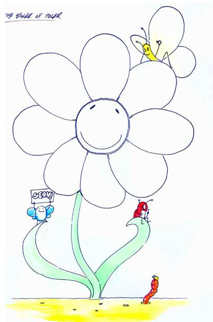 Umsetzung flower of power