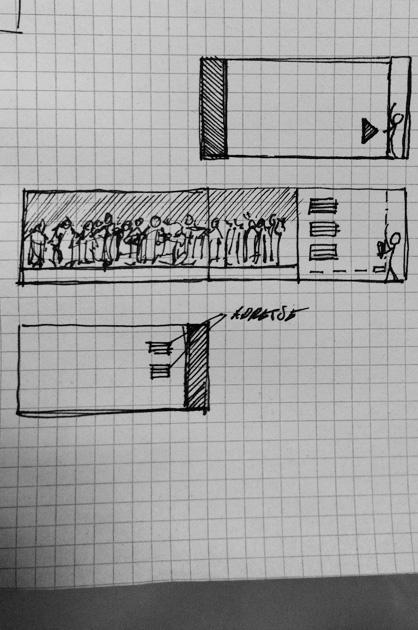Skizze zu Entwurf C
