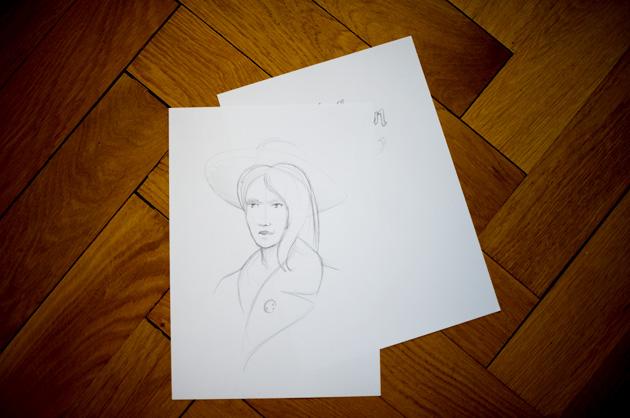 Lavinia Morgan – Skizze 2