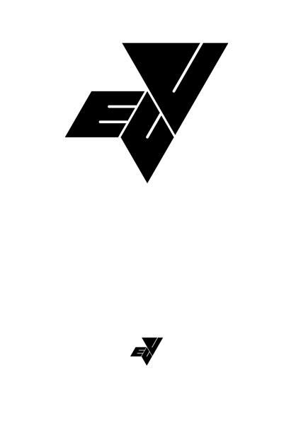EOVessels – erster Entwurf, Schriftzug aus Dreiecken aufgebaut