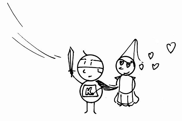 Superkarl mit Prinzessin