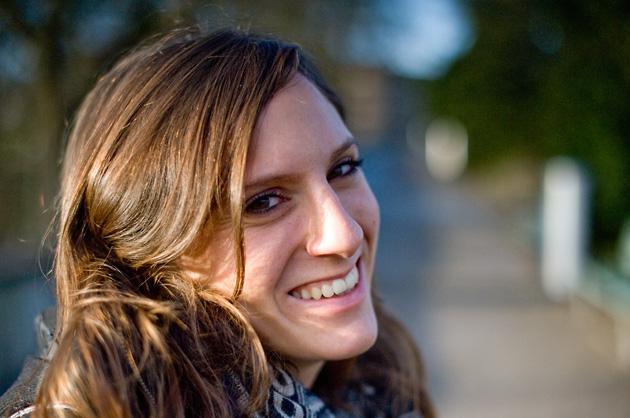 Portrait-Aufnahme im Rosengarten