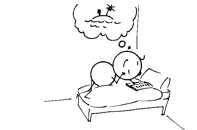Die Warze – Karl auf dem Bett am Lesen