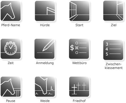 Die Icons im aktiven Zustand