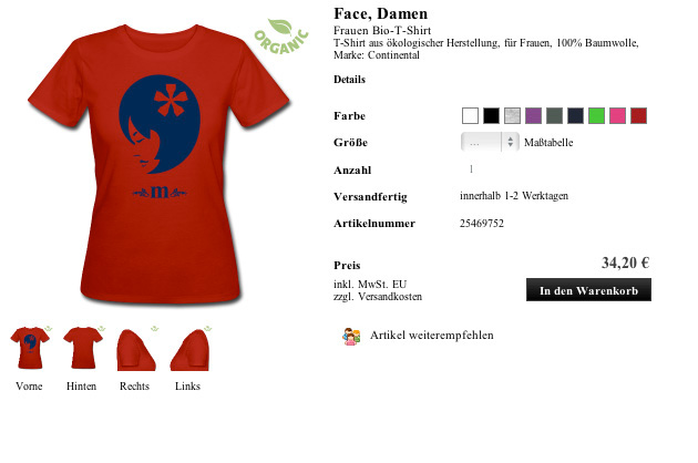 Shirt Face, Damen