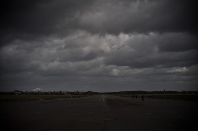 Berlin Tempelhof, Aufnahme von Wolken