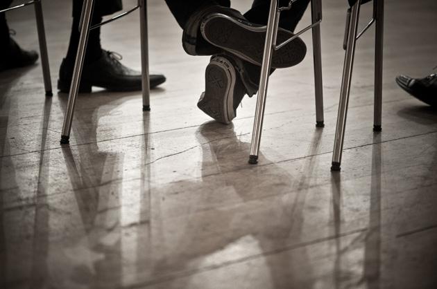 Familienkonferenz in Münsingen - Detail mit Schuhen
