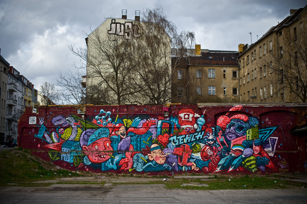 Graffiti im RAW-Areal in Berlin