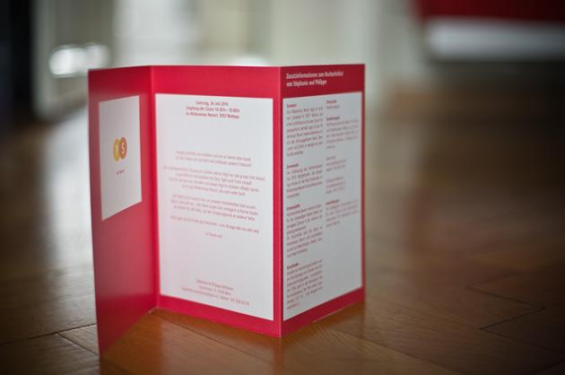 Rückseite der Hochzeitskarte