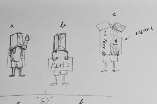 Karl – Storyboard mit Bildvarianten