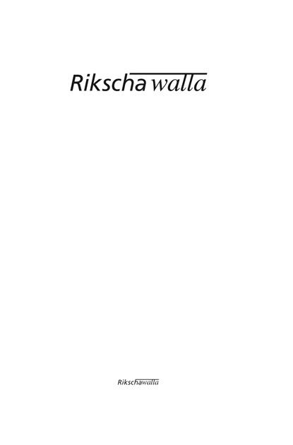 Logo Rikscha Walla - typografische Entwürfe