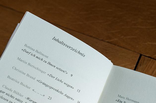 Buchgestaltung – Inhaltsverzeichnis
