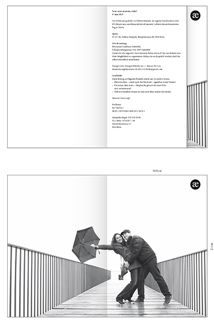 Hochzeitskarte, Entwurf B