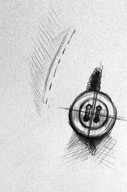 Illustration POS – Vorskizze Knopfloch