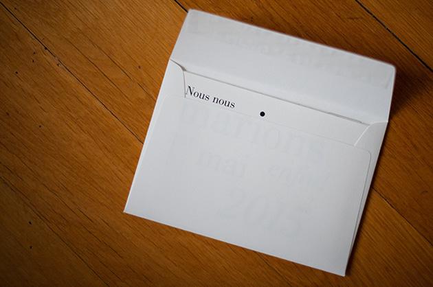 Die Hochzeitskarte im Couvert