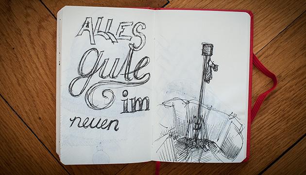 Skizzenbuch und Kurswechsel – Beitragsbild