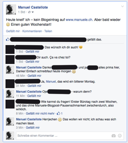 Bild Facebook-Konversation