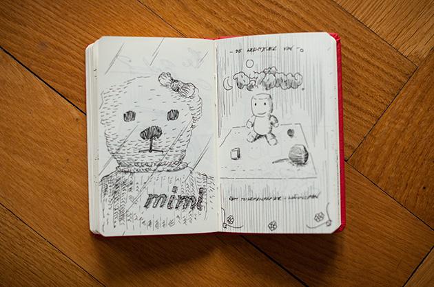 Skizzen von Kinderspielzeug und einer Projektidee