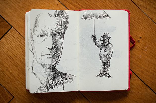 Portrait- und Figurenskizze