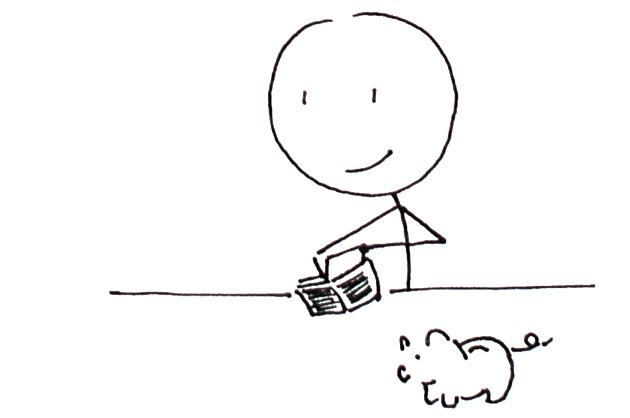Preis für ein Logo; Strichmännchen mit einem Geldbeutel